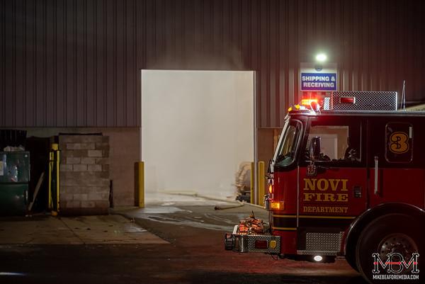 Novi MI, Commercial Fire 1-30-2020