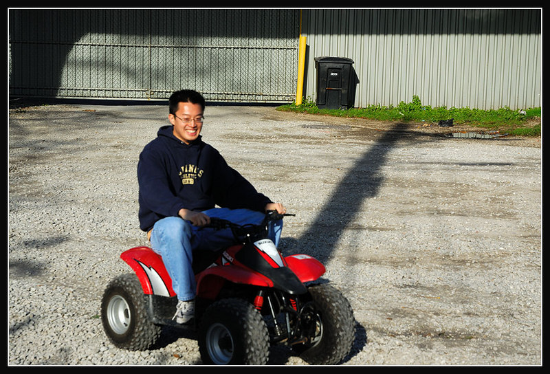Happiness is a small motorized vehicle