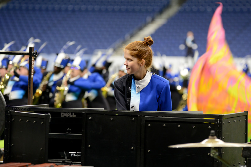 """The Leander High School marching band performs its show, """"Polarity"""" in the preliminary round of the UIL State Marching Band competition Monday, Nov. 5, 2018."""