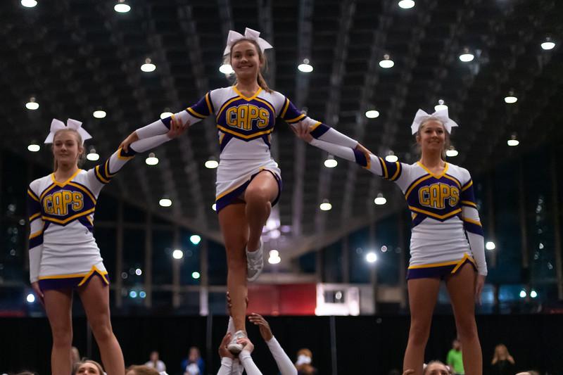 Broughton cheerleading Pre-States. November 16, 2019. D4S_1610