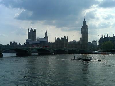 Walking around in London and Paris
