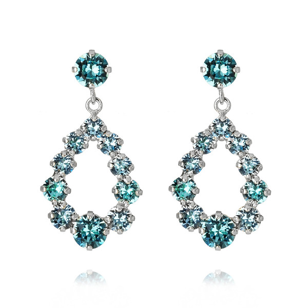 Mini Delia Earrings : Light Turqouise Rhodium.jpg