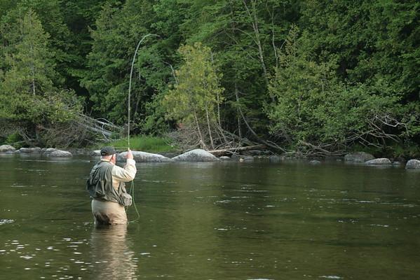 Flyfishing for Salmon on Grand Lake Stream, Maine<br /> ©Nature'sArt
