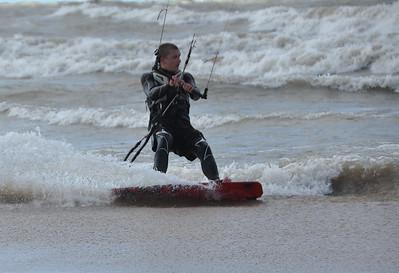 Kite Flying on water