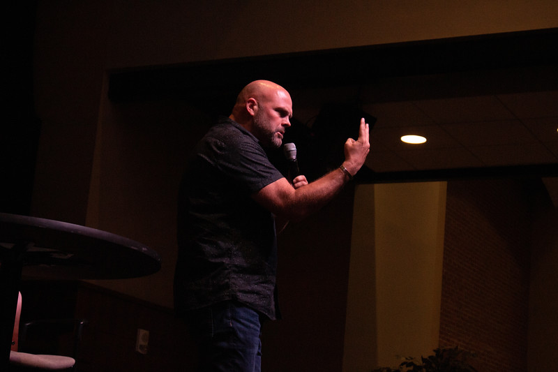 Monday night dimensions with speaker Clayton King and his wife Sharie