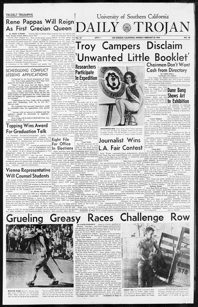 Daily Trojan, Vol. 55, No. 68, February 24, 1964