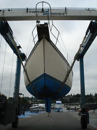 Canal Boat Yard - unloading