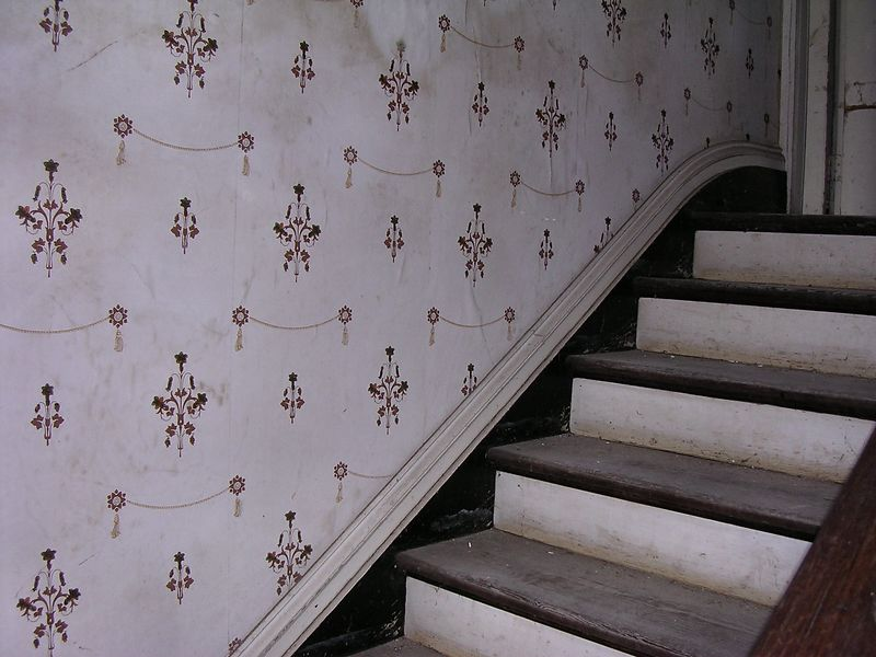 This is the wallpaper on the stairs.
