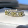 2.30ctw Fancy Yellow and White French Cut Diamond 5-Stone Band 0