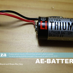SKU: AE-BATTERY/36, 3.6V Lithium Battery 3.6 Volts with 2 Pins Connector, Non-Rechargeable