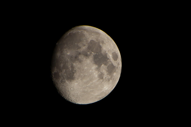 The Moon (cropped from next shot) Observed the day after International Observe the Moon Night (InOMN)