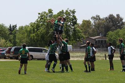Peninsula Green HS Rugby Club vs Sierra Foothills Varsity Silver - May 5, 2012