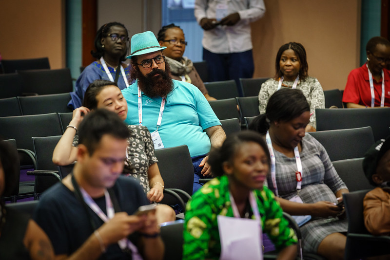22nd International AIDS Conference (AIDS 2018) Amsterdam, Netherlands.   Copyright: Matthijs Immink/IAS  Young people at the centre: Community mobilization for youth-friendly HIV services  On the photo: Public