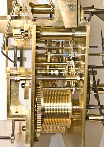 Late 1880's Elliott 9-Tube Hall Clock Mechanism