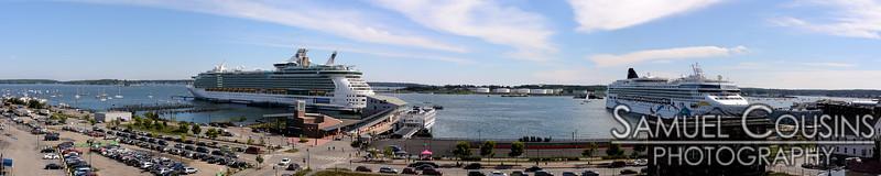 Cruise ships docks at Ocean Gateway