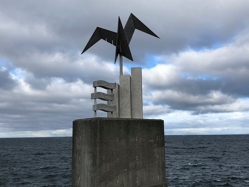 Seaside sculpture in Keflavik - end of our journey before the flight home