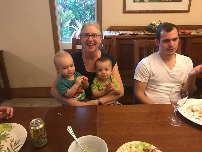 Grandma Mitzi, Leif, Asher, Chris