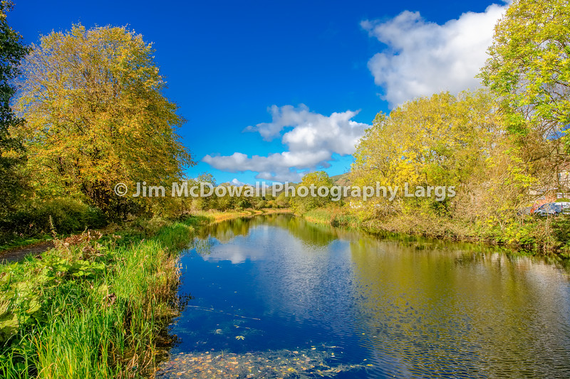 Beautiful Autumn Colours on the Forth & Clyde Canal Scotland.