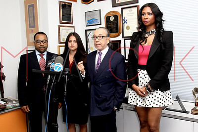 New York, NY - April 19:  The press conference in regards to a civil lawsuit filed by Jennifer Williams against Nia R. Crooks for assault & battery, New York, USA.