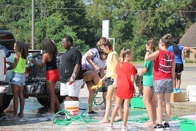 Shelbyville Dragon Band held a car wash fundraiser on Saturday, Sept. 14
