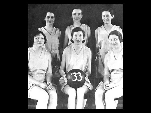 Good photo by Janice Beetle history of athletics article:  The Class of 1933 women's basketball team at Westfield.