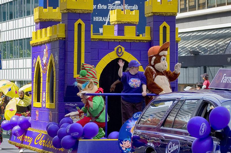 Sweet castle Santa Parade Auckland New Zealand - 27 Nov 2005