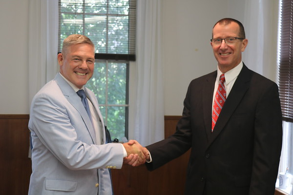 The transfer of  FUMA President from Rear Admiral Burhoe to COL Coggins took place at Hatcher Hall on 22 June 2018.