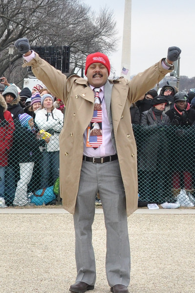 A man exclaims during the Inauguration Ceremony