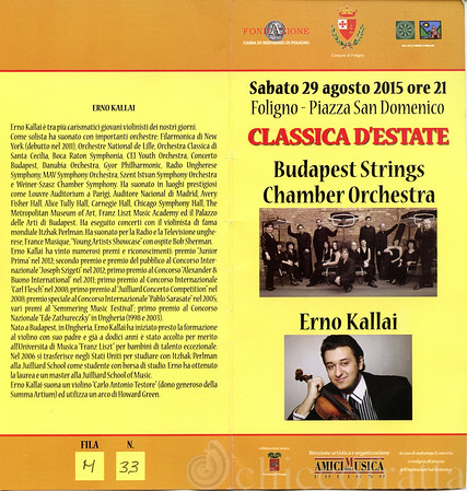 2015/08/29 Budapest Strings Chamber Orchestra - Erno Kallai