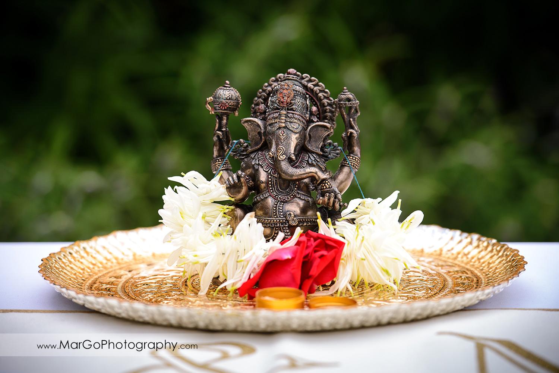 indian wedding entrance ganesh at Brazilian Room - Tilden Regional Park, Berkeley