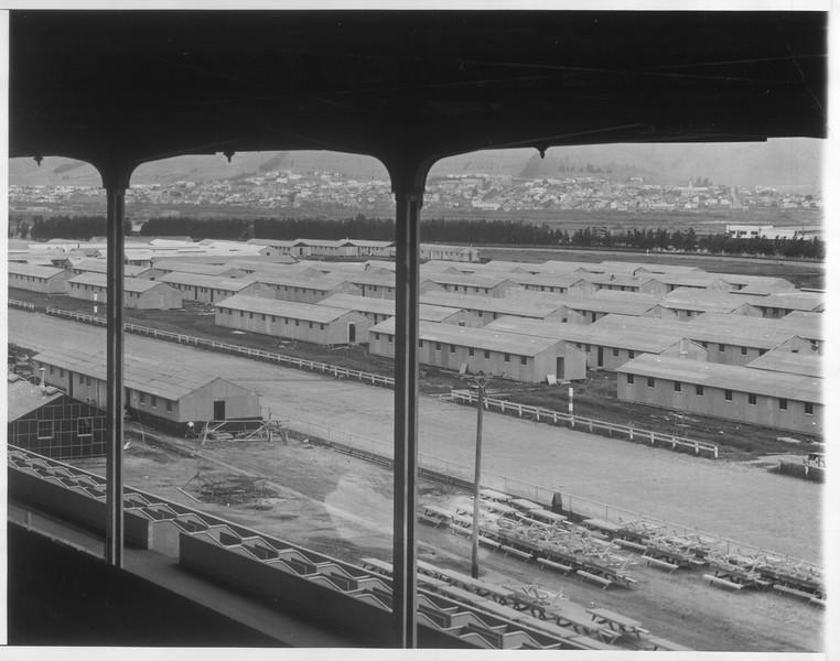 """Jap Reception Center Nears Completion"" -- caption on photograph"