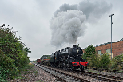 8F #8274 steams past East Leake with a short freight