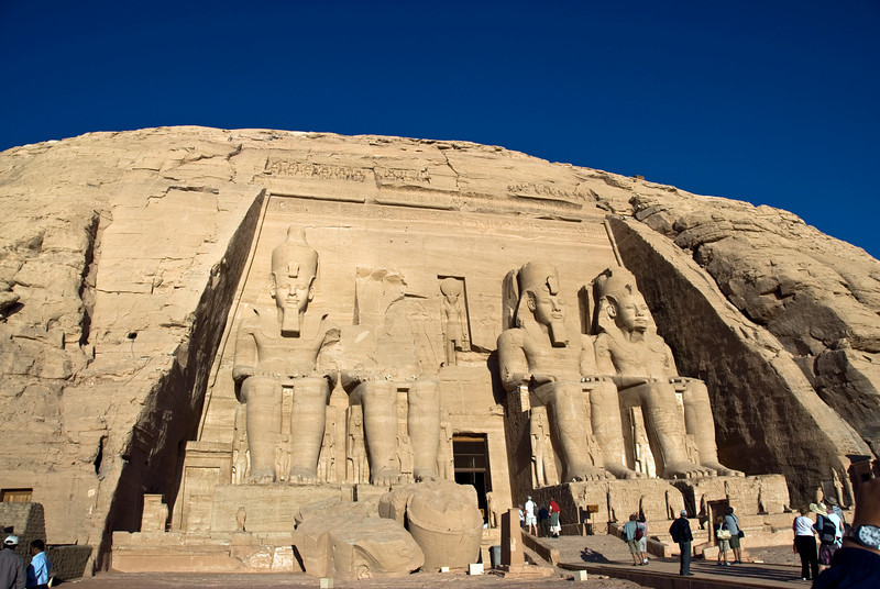 Tourists at the entrance to Abu Simbel - Egypt