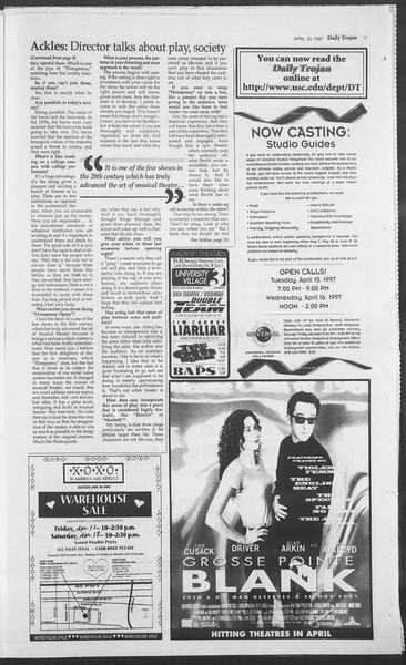 Daily Trojan, Vol. 130, No. 55, April 10, 1997