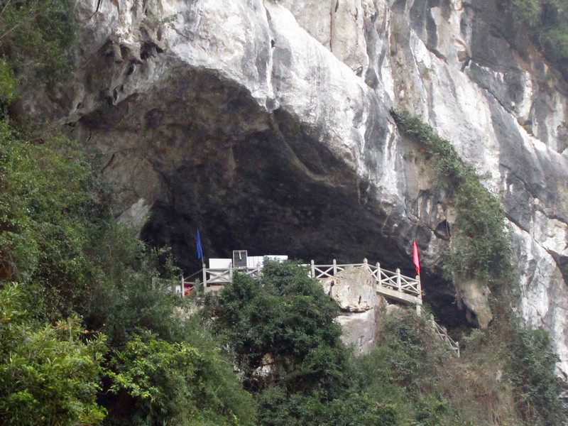 2-Top of the stairway and entrance to the cave (several hundred steps up).