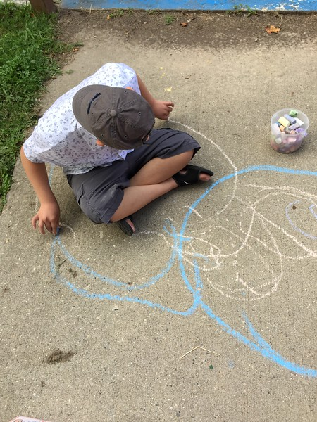 emergent writing in chalk .JPG