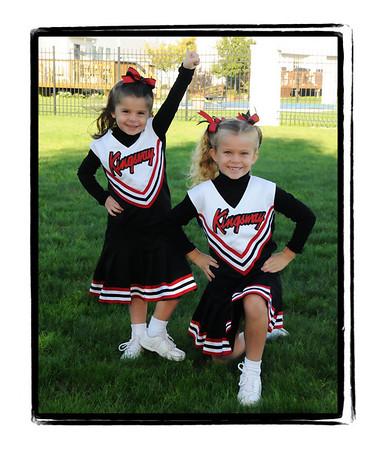 Elizabeth and Meghan Cheerleading 10/2008