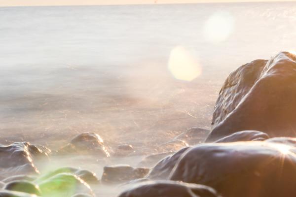 Solnedgang ved Fiskerhytten