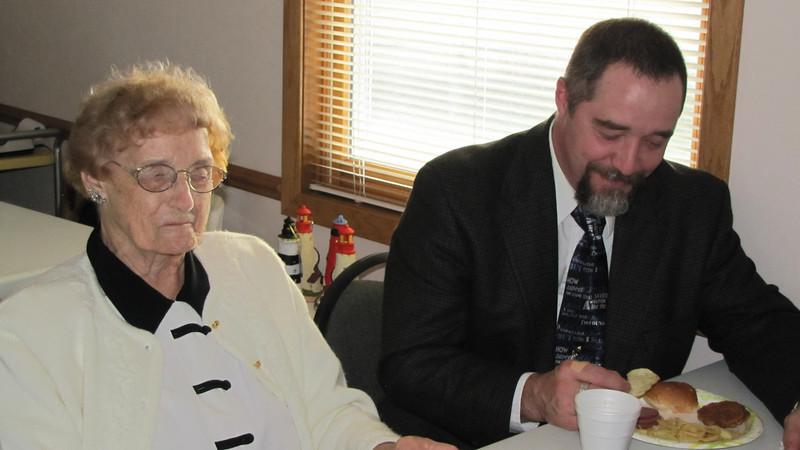 Amelia Payne with grandson Chuck Henning