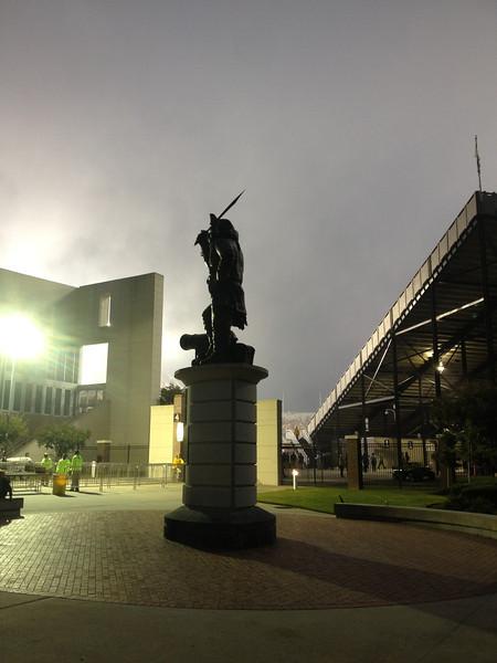 9/29 UTEP Pirate in the rain.