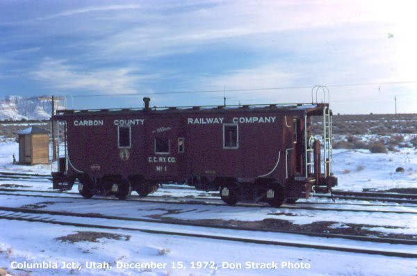Carbon County steel caboose. (Don Strack Photo)