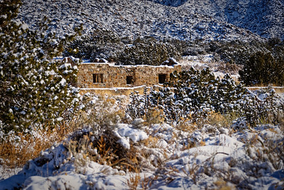 La Cueva Stone Cabin, Sandia Mountain - Dec 2018
