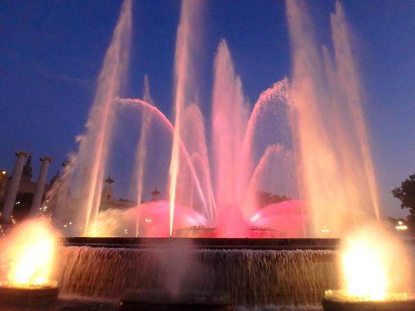 Barcelona light show fountain, Spain - July, 2016