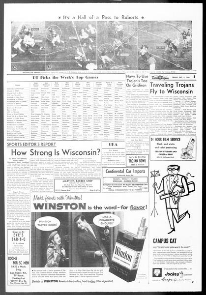 Daily Trojan, Vol. 48, No. 11, October 05, 1956