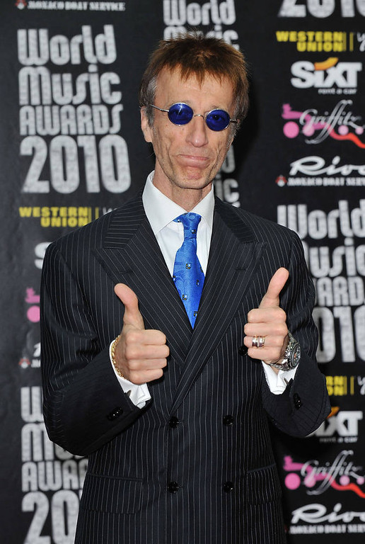 . Bee Gees member Robin Gibb.  (Photo by Pascal Le Segretain/Getty Images)