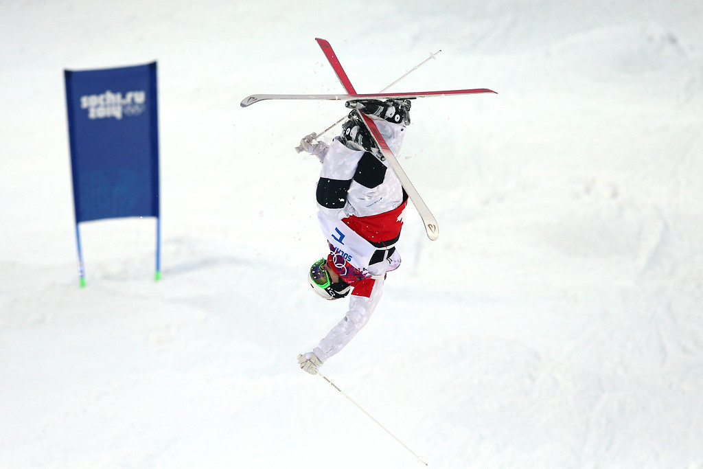 . Mikael Kingsbury of Canada competes in the Men\'s Moguls Qualification on day three of the Sochi 2014 Winter Olympics at Rosa Khutor Extreme Park on February 10, 2014 in Sochi, Russia.  (Photo by Cameron Spencer/Getty Images)