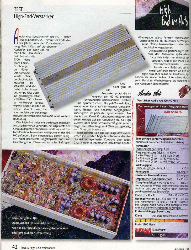 Audio Art 100HC Amplifier Review? - Talk Audio