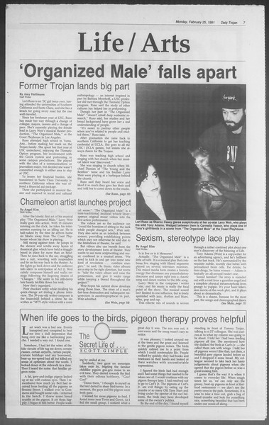 Daily Trojan, Vol. 114, No. 30, February 25, 1991