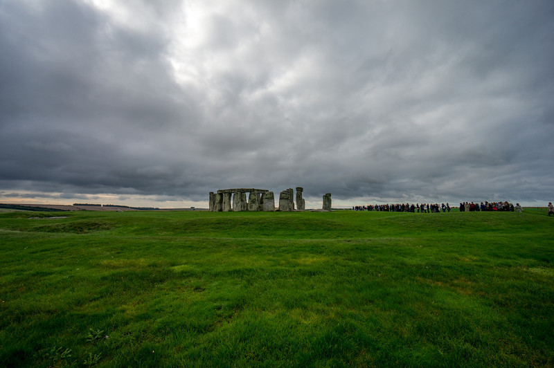 Stonehenge, look at all those tourists in line on the right