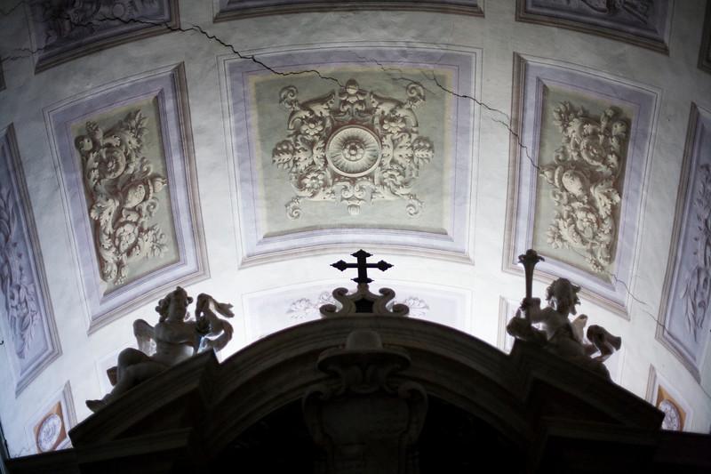 Ceiling of the entrance hall, Santa Maria Sopra Minerva Basilica, Rome